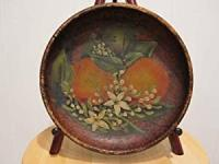 ANTIQUE AMERICAN FOLK ART HAND PAINTED ...